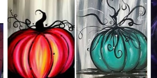 Sold Out!Pumpkin Adult Paint Event/Fall River $15