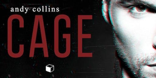 """Bate-papo sobre  """"Cage e Ayra"""" de Andy Collins com Guardiã da meia-noite"""