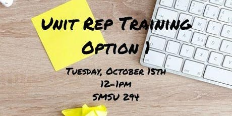 Fall 2019 Unit Rep Training Option 1 tickets