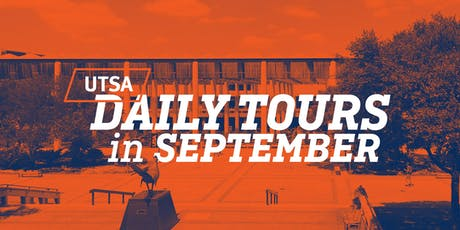 UTSA Daily Tours - September 2019 tickets
