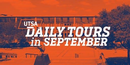 UTSA Daily Tours - September 2019