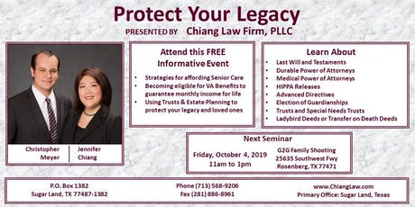 Protect Your Legacy tickets