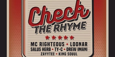 Check The Rhyme - ATX HipHop Showcase tickets