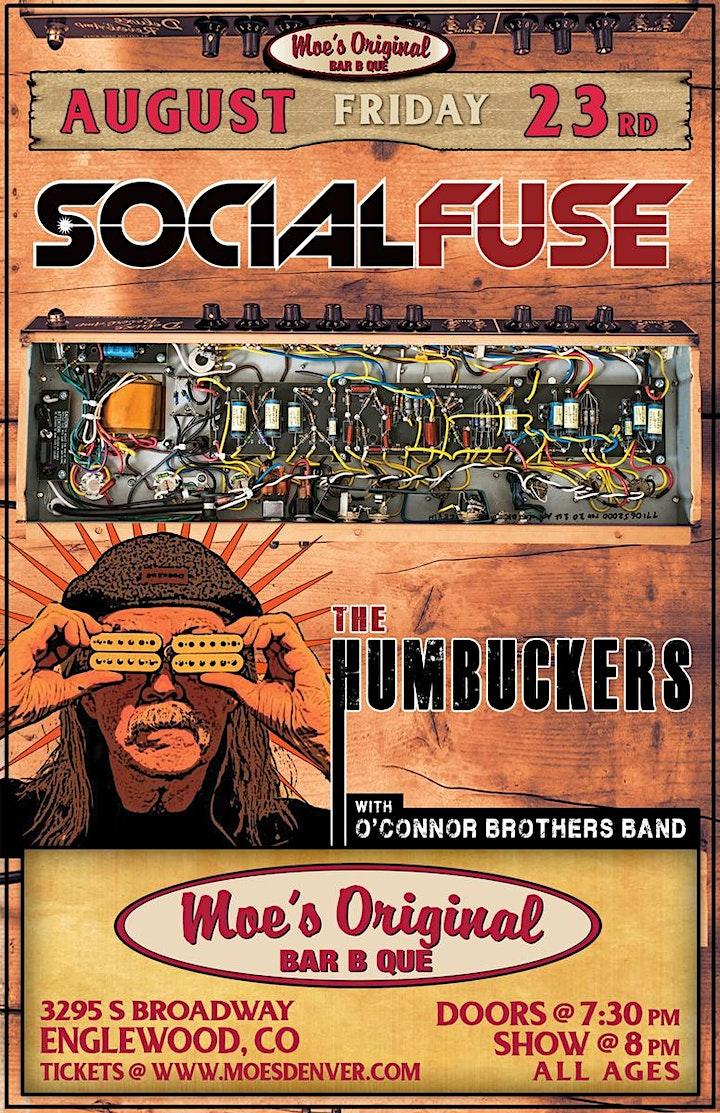 The Humbuckers & SocialFuse at Moe's Original BBQ Englewood image