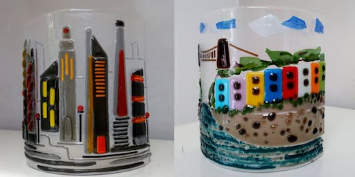 Create a Cityscape or Bristol Colourful Houses fused glass panel. (Adults)