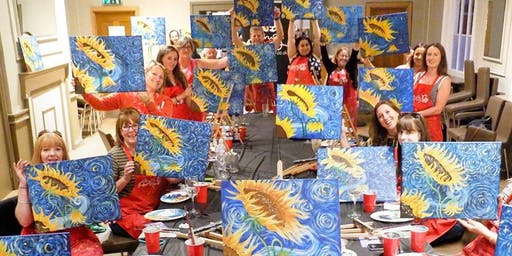 Sunflowers Brush Party - Leighton Buzzard