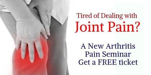 Arthritis Pain Seminar w/ Dr. Greene & Dr. Tal Cohen - Wellness Expert! Vancover WA (8/30)(10 AM)