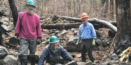 Wahclella Falls Trail - Rock Work