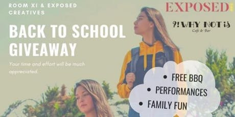 Exposed Creatives X Room XI Present: First Annual Back to School Giveaway tickets