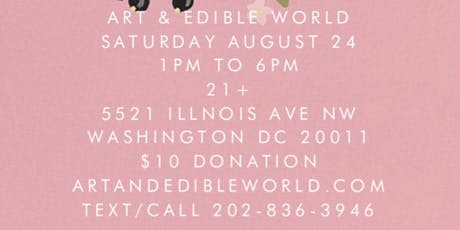 Art & Edible World Saturday tickets