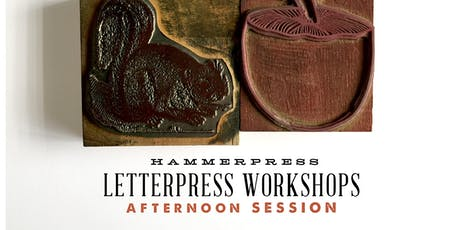 Letterpress Fall Greeting Card Workshop (Afternoon Session) tickets