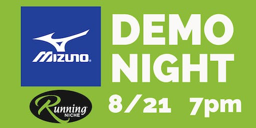 Mizuno Demo Night 5k Run/Walk at Running Niche in the Grove STL