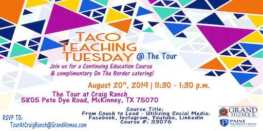 Taco Teaching Tuesday at The Tour