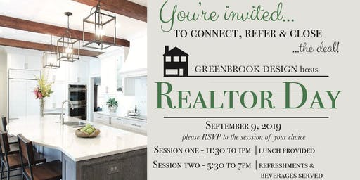 Realtor Day at Greenbrook Design - SESSION 2 (Cocktails) 5:30 pm - 7:00 pm