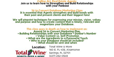 Real Estate Agents FREE Lunch & Learn - Build Strong Relationships NOW! tickets