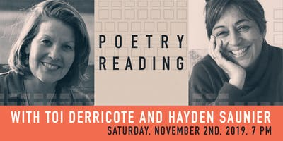 Poetry Reading with Toi Derricote and Hayden Saunier