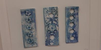 Lace print Porcelain ceramic workshop