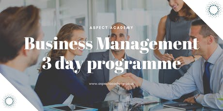 Business Management, 3 day training. tickets