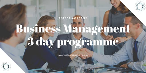 Business Management, 3 day training.