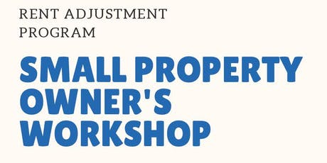 Small Property Owners' Workshop tickets