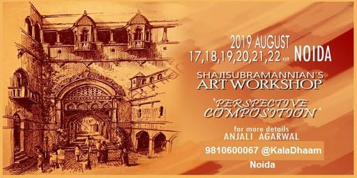 Workshop on Perspective Composition & Human Drawing by Shaji Subramannian