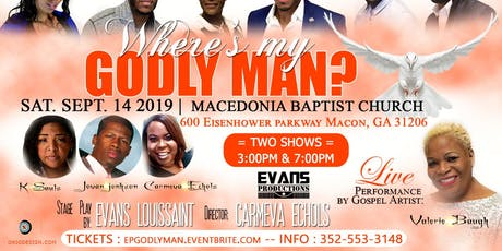 WHERE'S MY GODLY MAN? HIT STAGE PLAY tickets