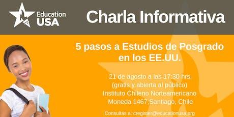 Charla de Posgrado Agosto 2019 tickets