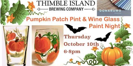 Pumpkin Patch Pint & Wine Glass Paint Night