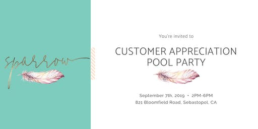 Customer Appreciation Pool Party