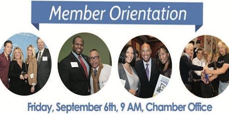 September Member Orientation tickets