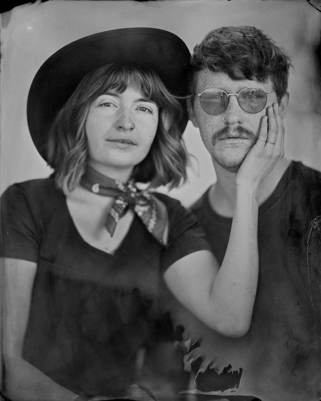 Tintype photography pop-up