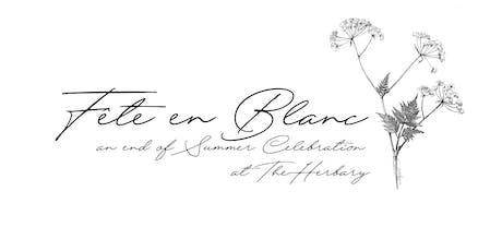 Fête en Blanc : An End of Summer Soiree tickets