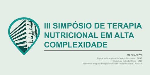 III SIMPÓSIO DE TERAPIA NUTRICIONAL EM ALTA COMPLEXIDADE