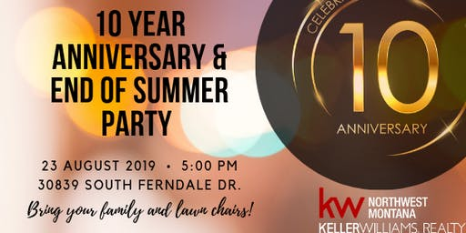 KW End of Summer/10 Year Anniversary Party