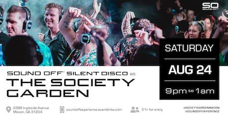 Sound Off™ Silent Disco @ The Society Garden tickets