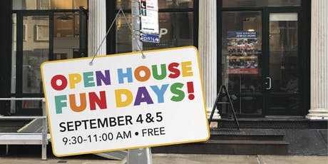 JCP Open House Fun Days - September 4, 2019 tickets