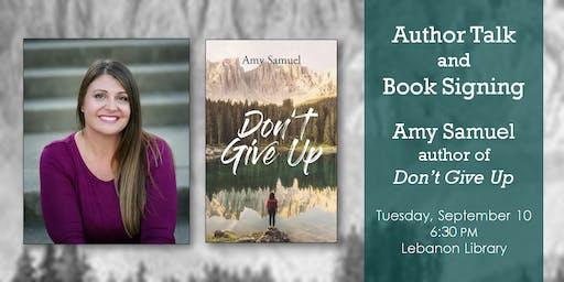 Amy Samuel Author Talk & Book Signing