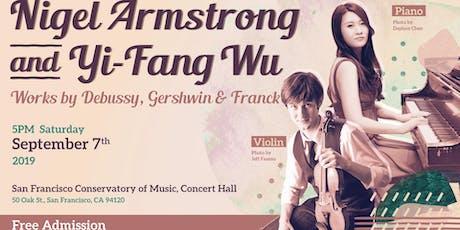 Nigel Armstrong and Yi-Fang Wu in Recital tickets