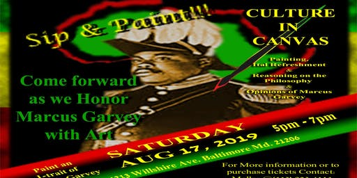 Culture in Canvas: Marcus Garvey 132nd Earthstrong