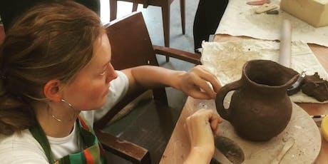 Tuesday Evening Handbuilding Ceramics class Beginners + tickets