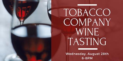 Tobacco Company Wine Tasting
