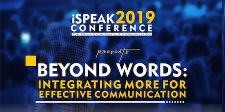 Ispeak Conference 2019 biglietti