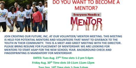 Do You Want to Become a COF Mentor? Join Today  tickets