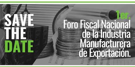 1er Foro Fiscal Nacional boletos