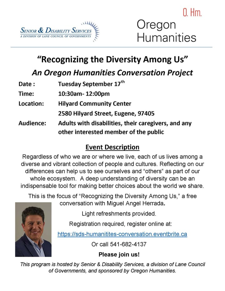 Oregon Humanities Conversation Project Tickets, Tue, 17 Sep