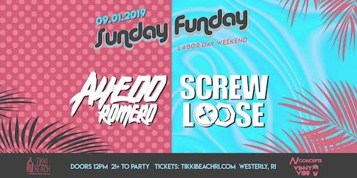 SUNDAY FUNDAY ft. AYEOO ROMERO + SCREWLOOSE at Tikki Beach | 9.1.19
