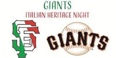San Francisco Giants Italian Heritage Night tickets