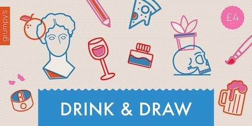 Drink & Draw at Grumpy's Bar + Pizza