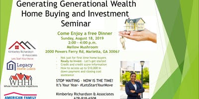 Creating Generational Wealth- Home Buying and Investment Luncheon