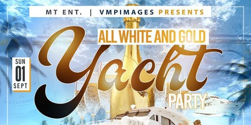 All White and Gold Yacht Party